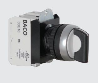 22mm Selector Switch Non-Illuminated Maintained/Spring Return