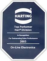 Harting Top Performer Han Divistion Award
