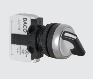 22mm Selector Switch Non-Illuminated Spring Return
