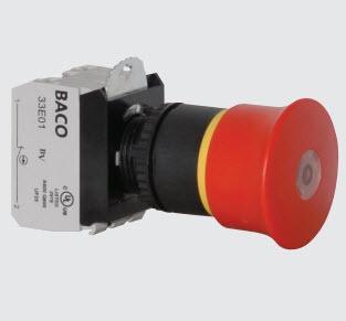 40 EN 418 / ISO13850, Push-pull to reset Black L22DN