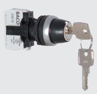 With Key, 2 positions - 45 degrees Black L22LA
